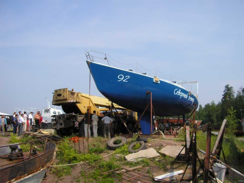 северная парусная лодка
